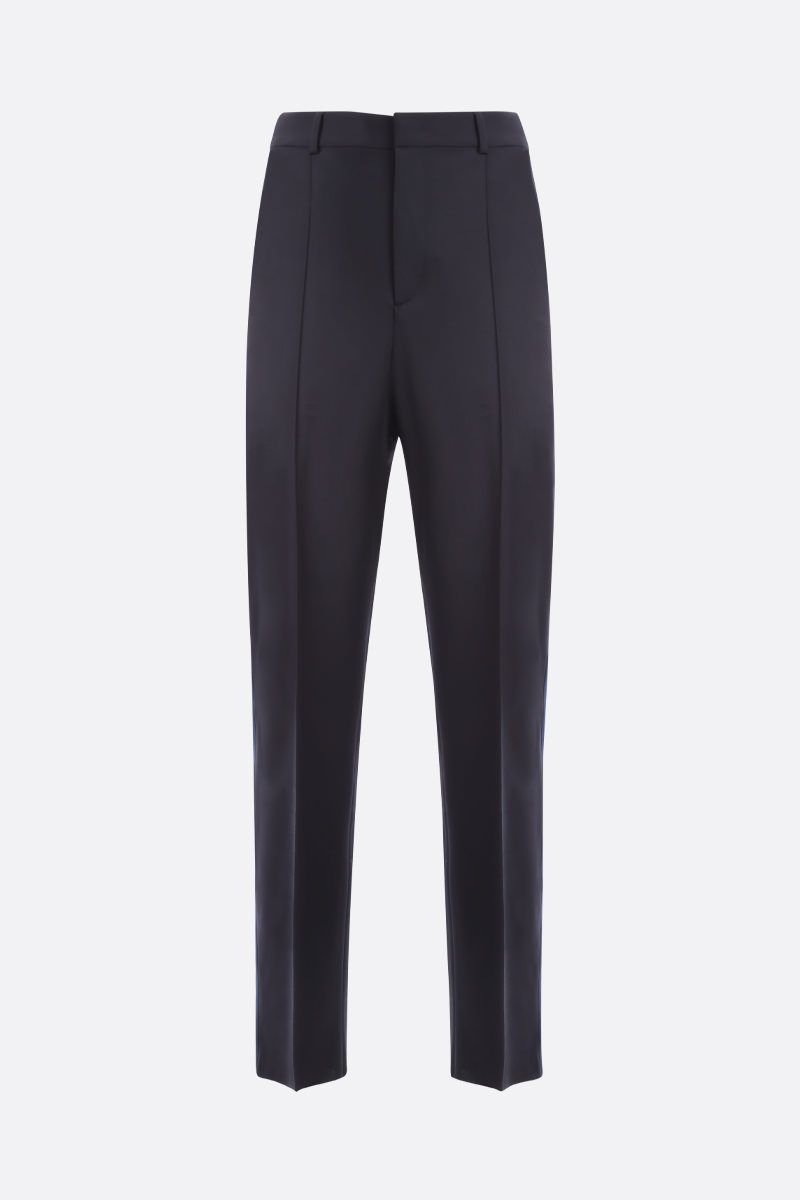 VALENTINO: Valentino print wool blend straight-fit pants_1