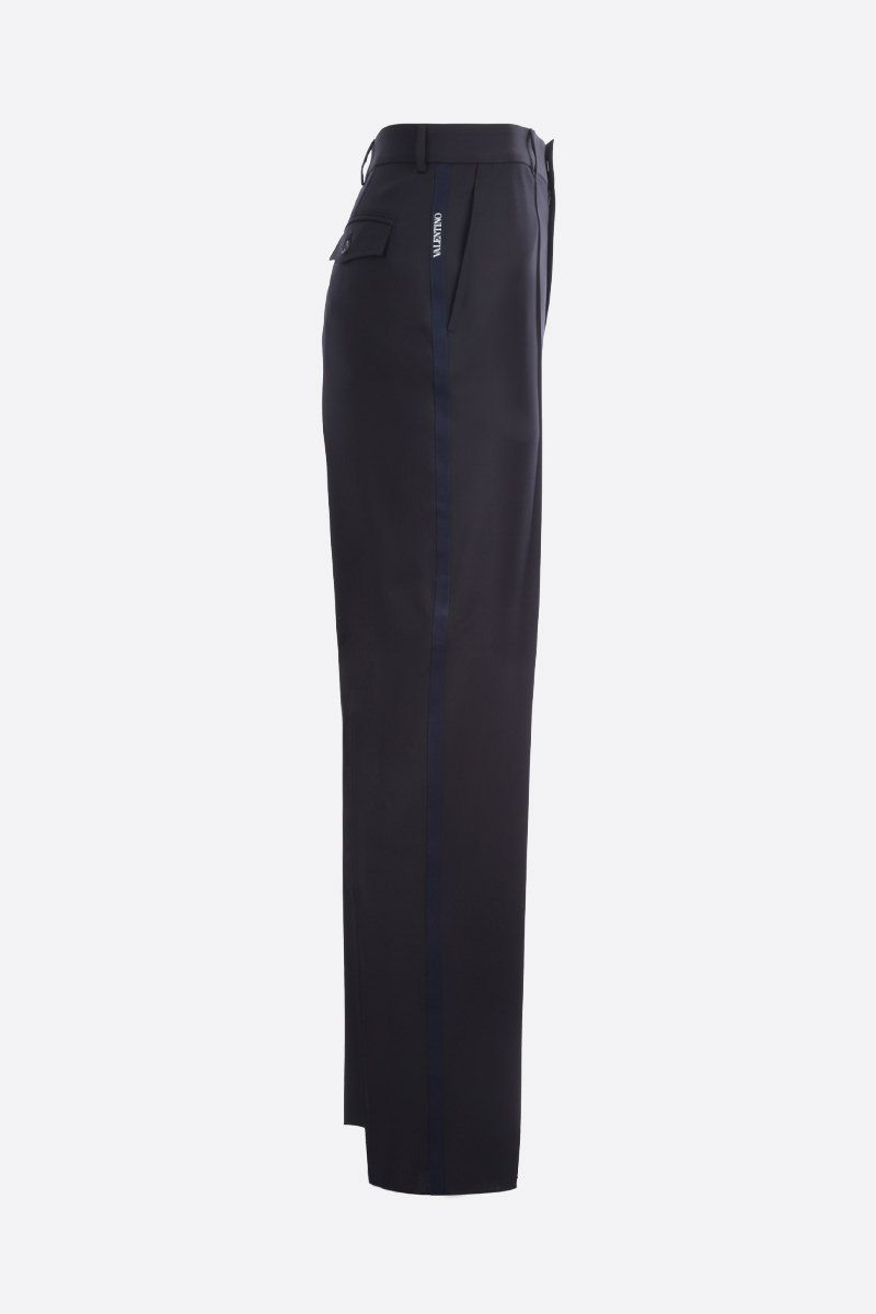 VALENTINO: Valentino print wool blend straight-fit pants_2