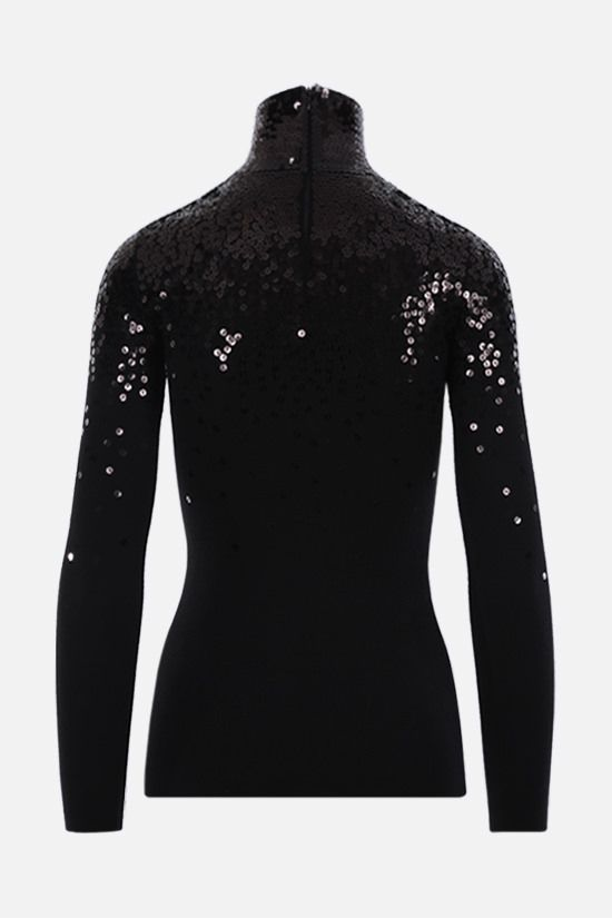 VALENTINO: sequinned wool turtleneck Color Black_2