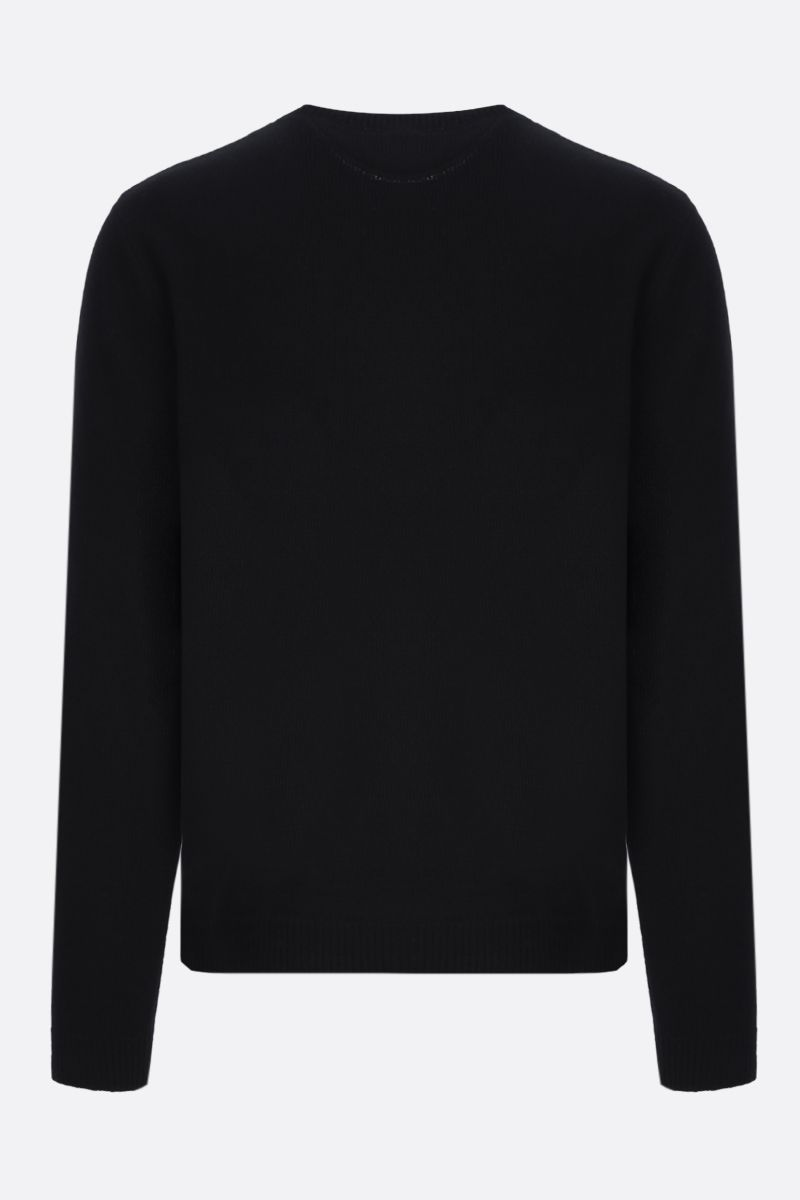 VALENTINO: VLOGO Shadow wool cashmere blend pullover Color Black_2