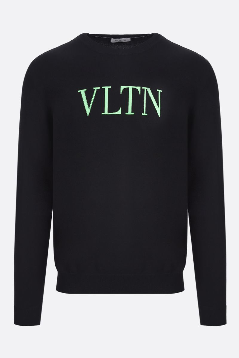 VALENTINO: VLTN viscose blend pullover Color Black_1