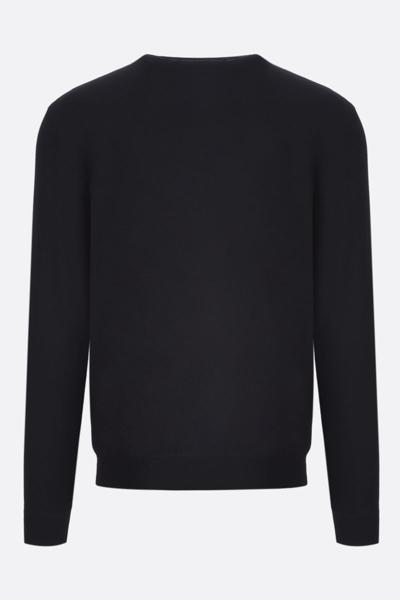 VALENTINO: VLTN viscose blend pullover Color Black_2