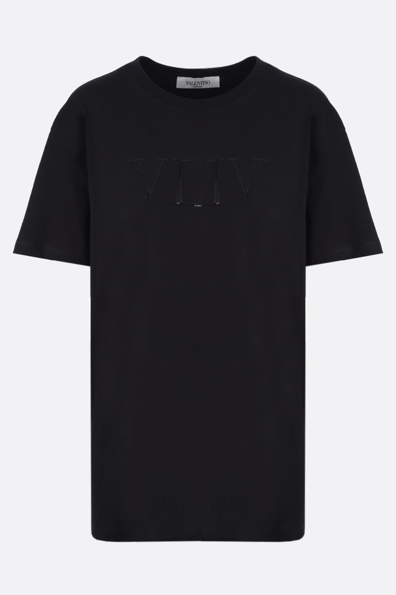 VALENTINO: VLTN cotton t-shirt Color Black_1