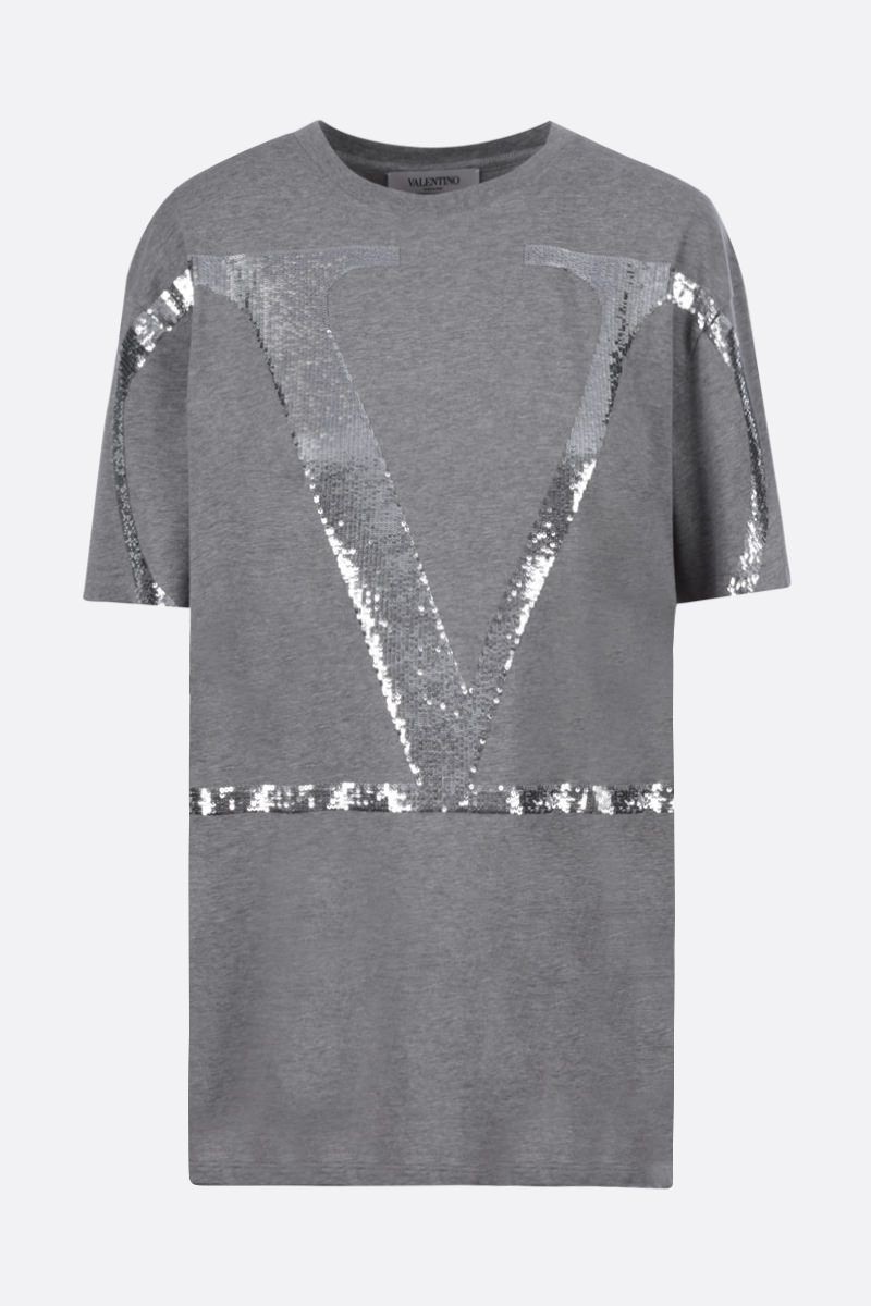 VALENTINO: VLOGO cotton t-shirt Color Grey_1