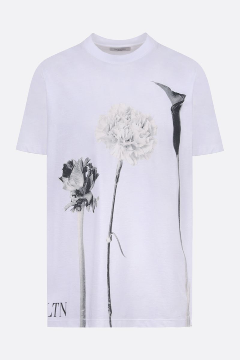 VALENTINO: Flowersity print cotton t-shirt Color White_1