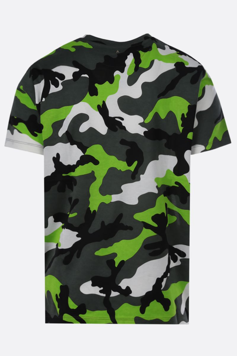 VALENTINO: camouflage print cotton t-shirt Color Black_2