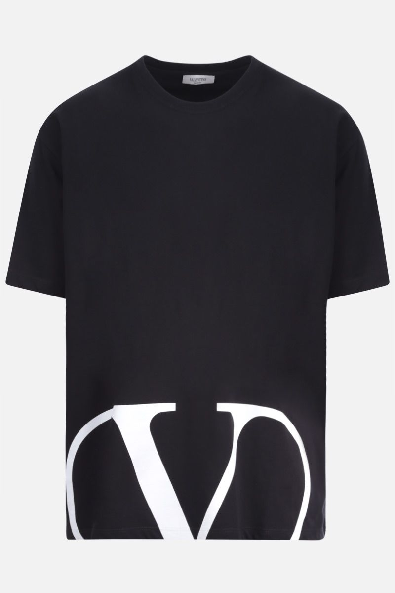 VALENTINO: VLOGO cotton t-shirt Color Black_1