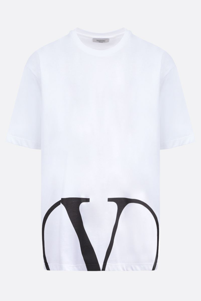 VALENTINO: VLOGO cotton t-shirt Color White_1