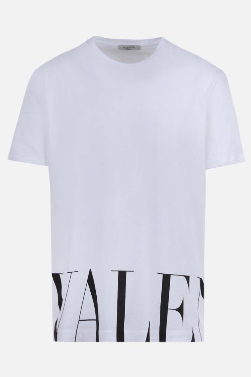 VALENTINO: Valentino print cotton t-shirt Color White_1