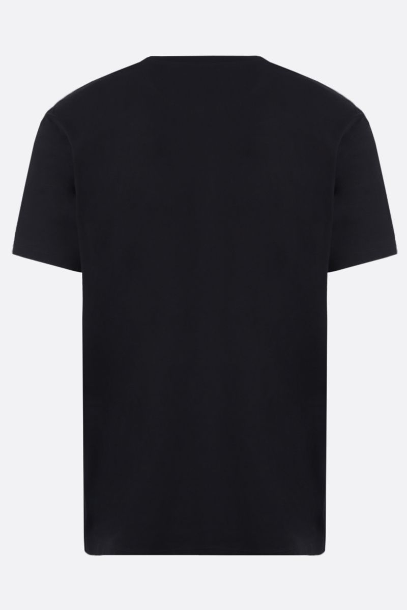 VALENTINO: t-shirt in cotone stampa Mural Jungle Colore Nero_2