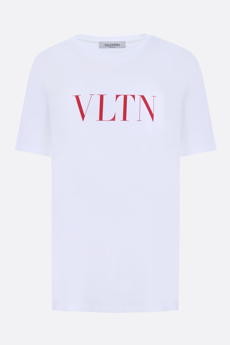 VALENTINO: VLTN cotton jersey t-shirt Color White_1