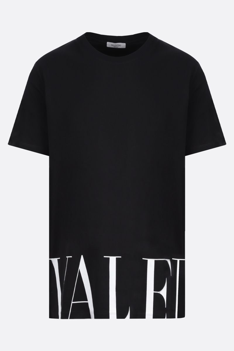 VALENTINO: Valentino print cotton t-shirt Color Black_1