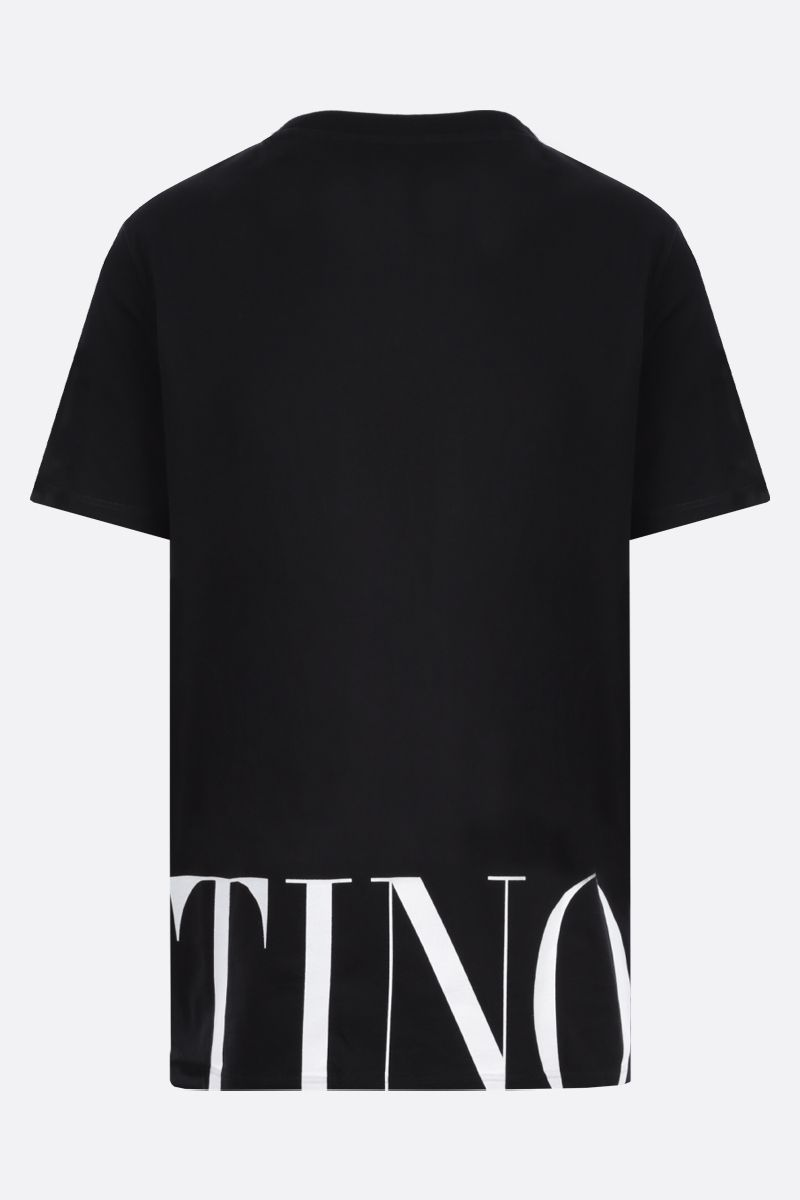 VALENTINO: Valentino print cotton t-shirt Color Black_2