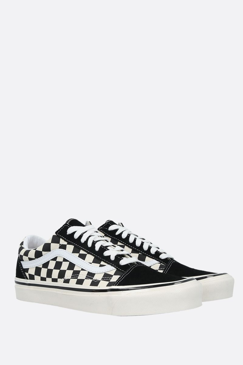 VANS: sneaker Old Skool 36 in canvas e suede Colore Nero_2