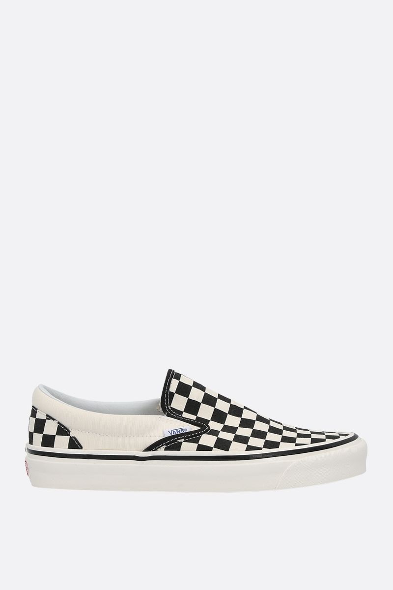 VANS: Classic Checkerboard canvas sneakers Color White_1