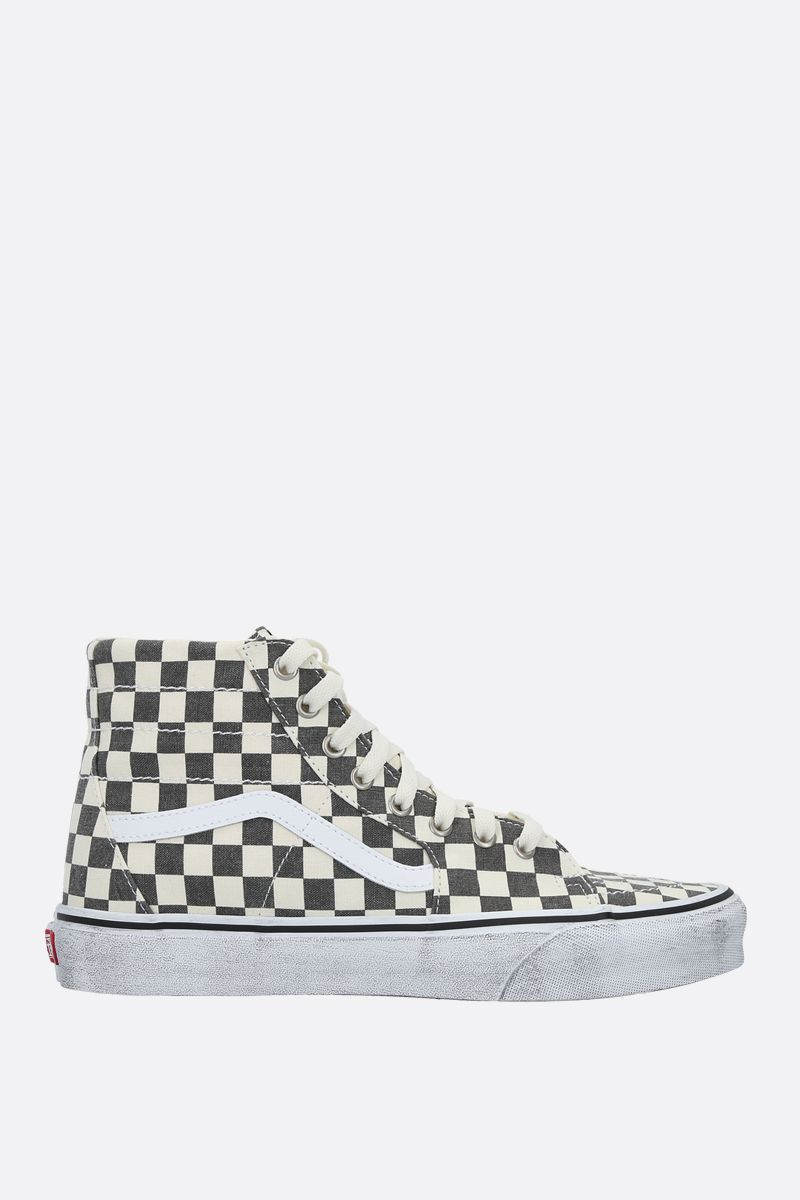 VANS: Sk8 Checkerboard canvas sneakers Color Black_1