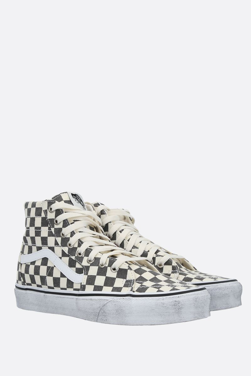 VANS: sneaker Sk8 Checkerboard in canvas Colore Nero_2