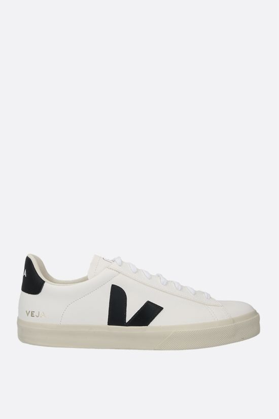 VEJA: Campo grainy leather sneakers Color Black_1