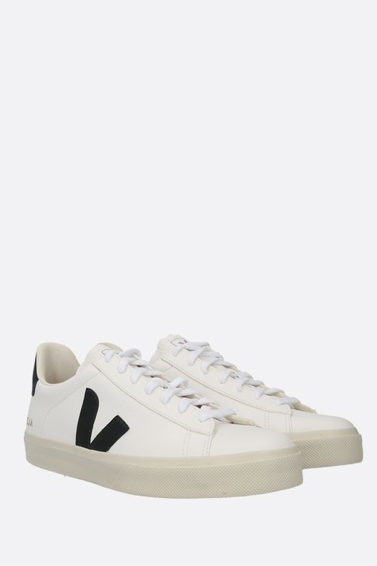 VEJA: Campo grainy leather sneakers Color Black_2