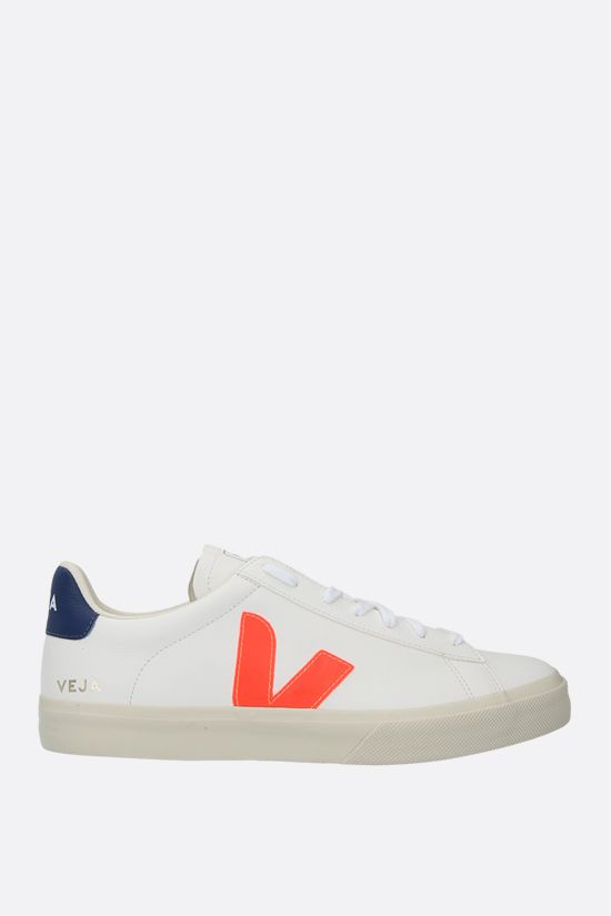 VEJA: Campo grainy leather sneakers Color White_1