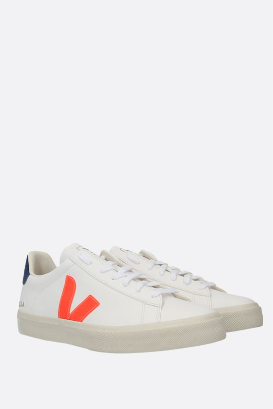 VEJA: Campo grainy leather sneakers Color White_2