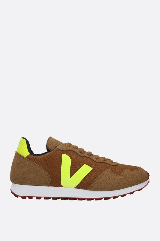 VEJA: SDU mesh and faux suede sneakers Color Yellow_1
