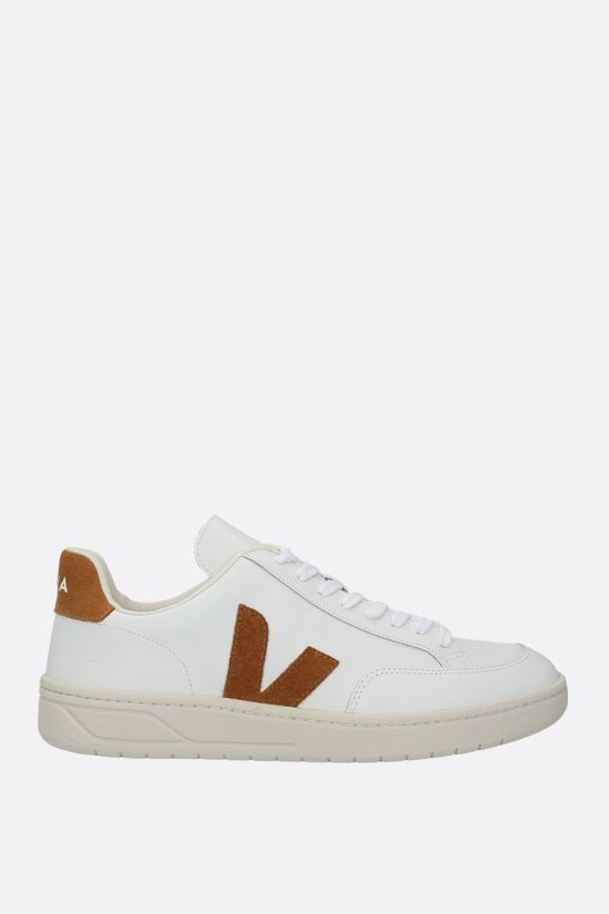 VEJA: V-12 smooth leather sneakers_1
