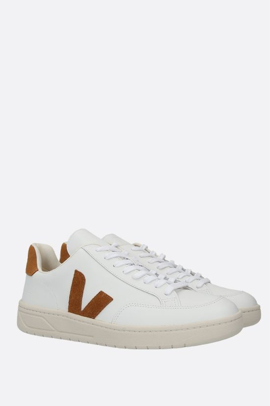 VEJA: V-12 smooth leather sneakers_2