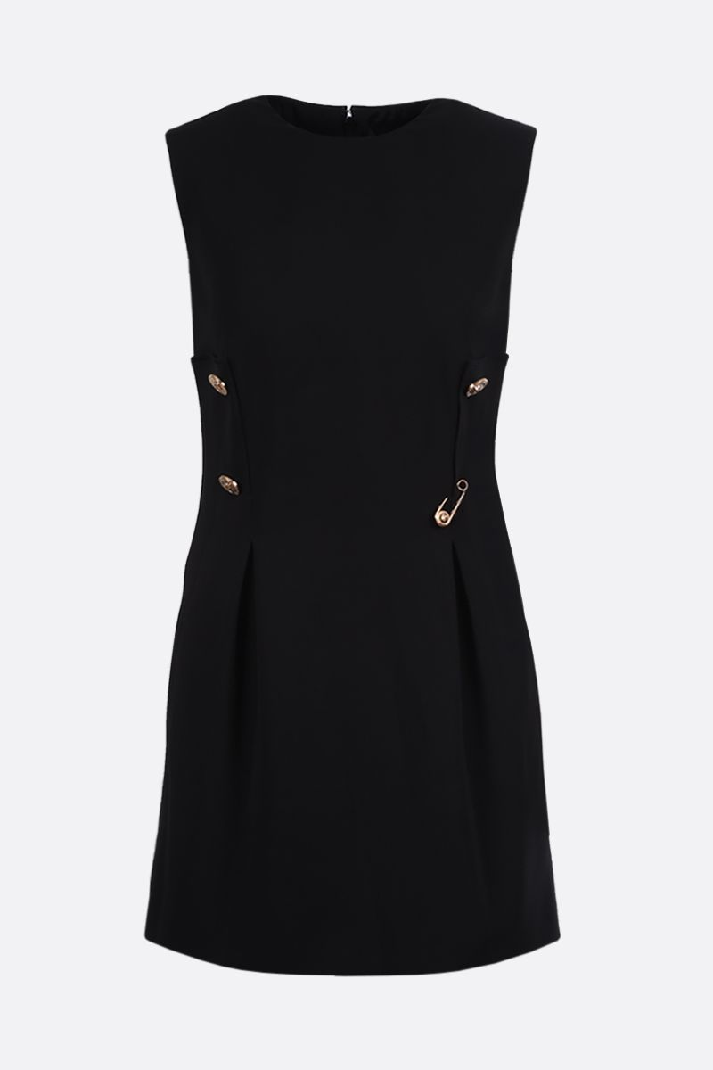 VERSACE: Medusa-detailed stretch cady sleeveless dress Color Black_1