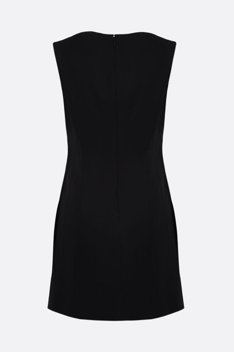 VERSACE: Medusa-detailed stretch cady sleeveless dress Color Black_2