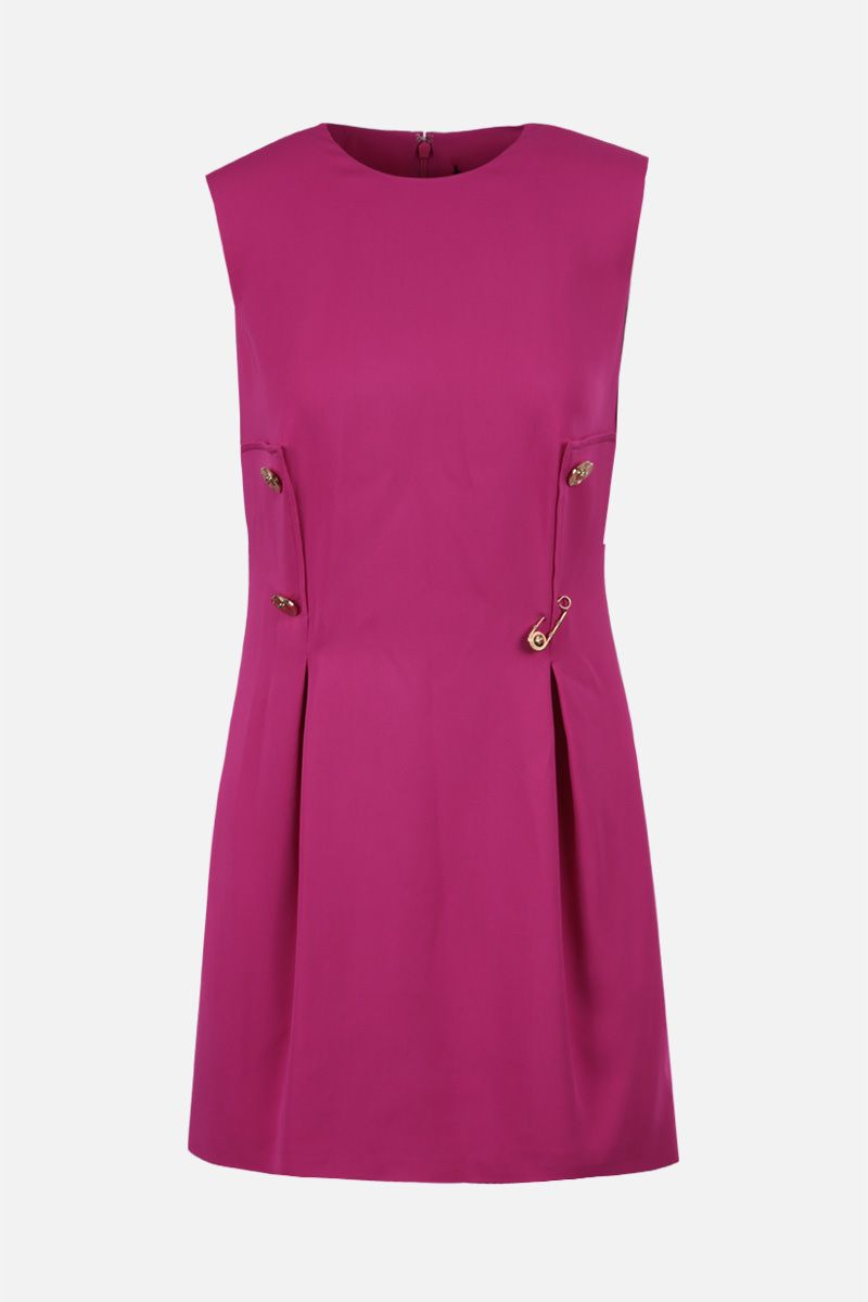 VERSACE: Medusa-detailed stretch cady sleeveless dress Color Pink_1