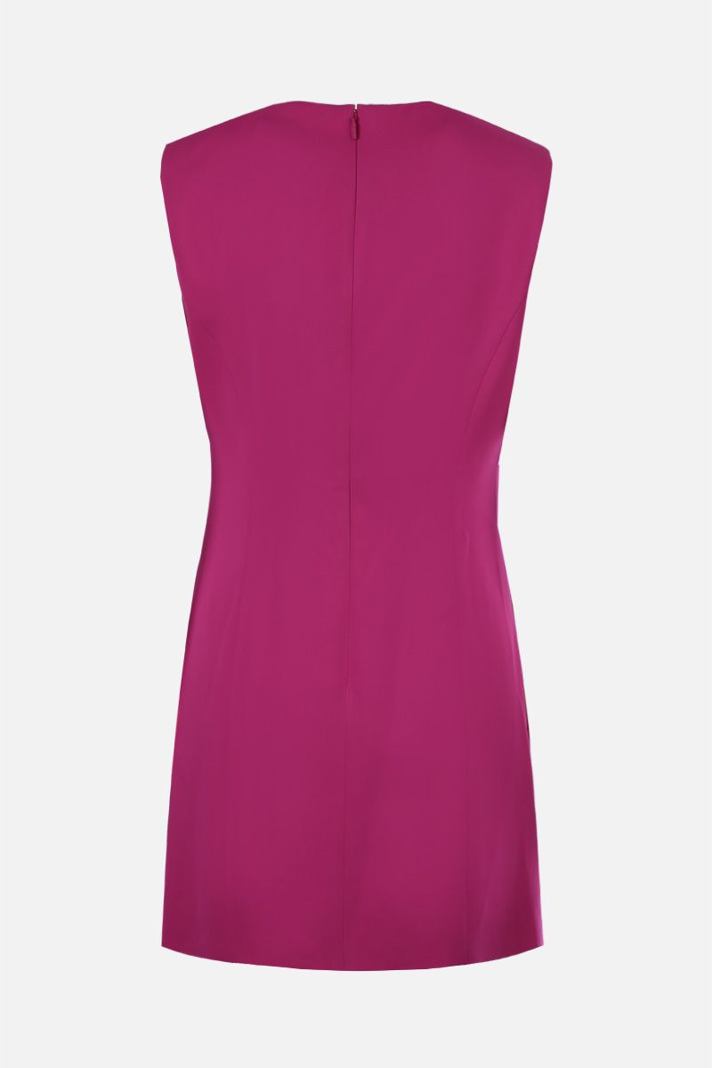 VERSACE: Medusa-detailed stretch cady sleeveless dress Color Pink_2