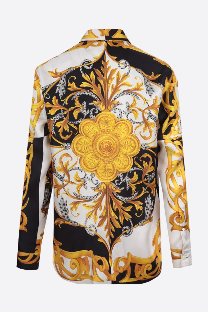 VERSACE: Barocco Acanthus print silk shirt Color White_2