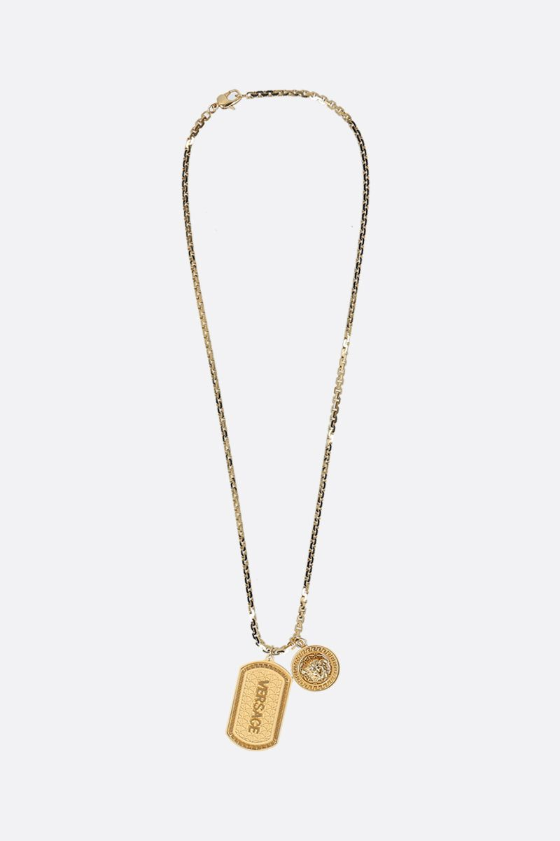 VERSACE: Medusa pendant-detailed metal necklace Color Gold_1