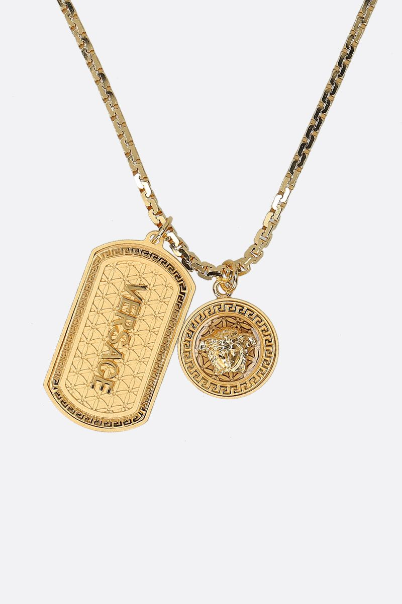 VERSACE: Medusa pendant-detailed metal necklace Color Gold_2
