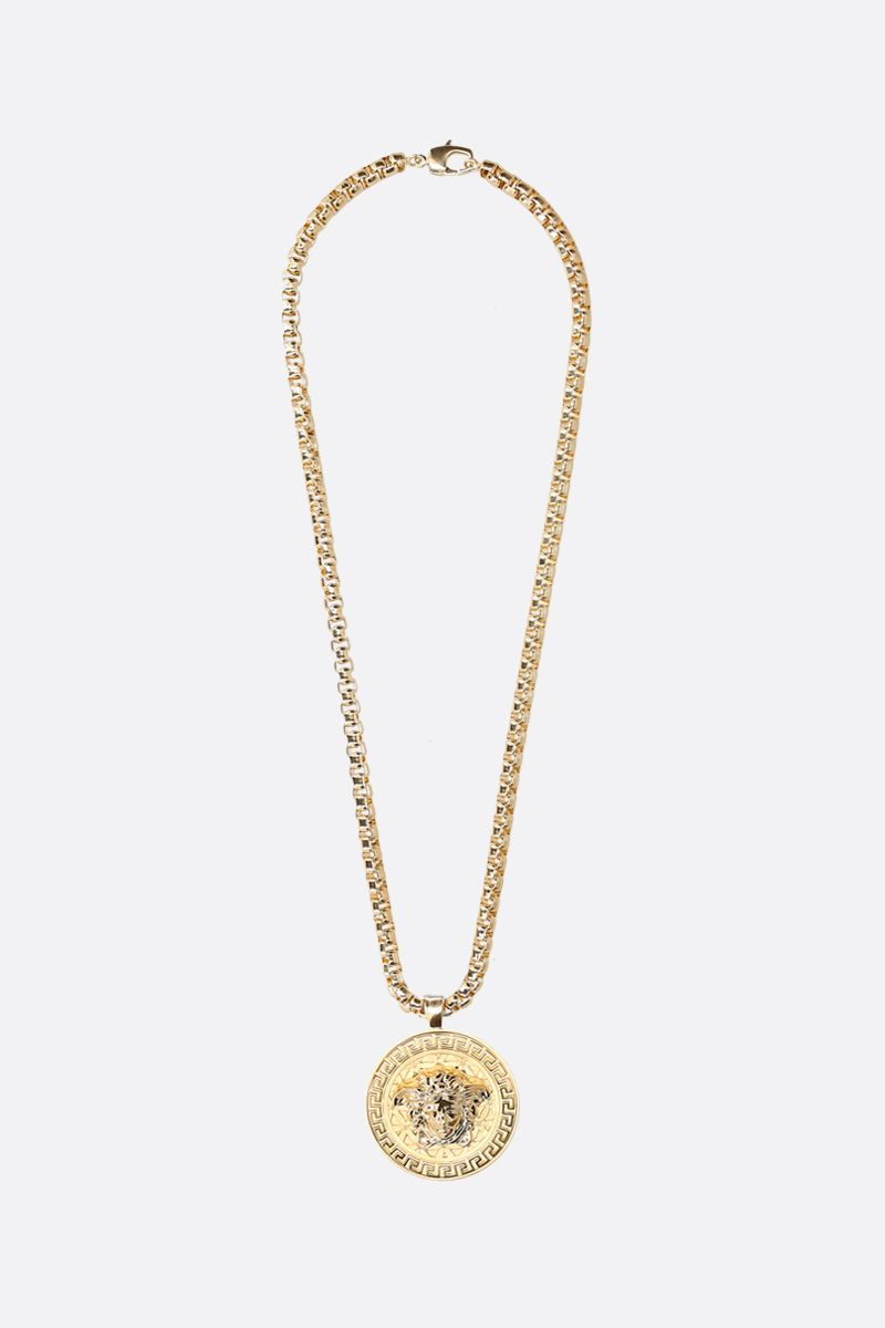 VERSACE: Medusa medallion-detailed chain necklace Color Gold_1