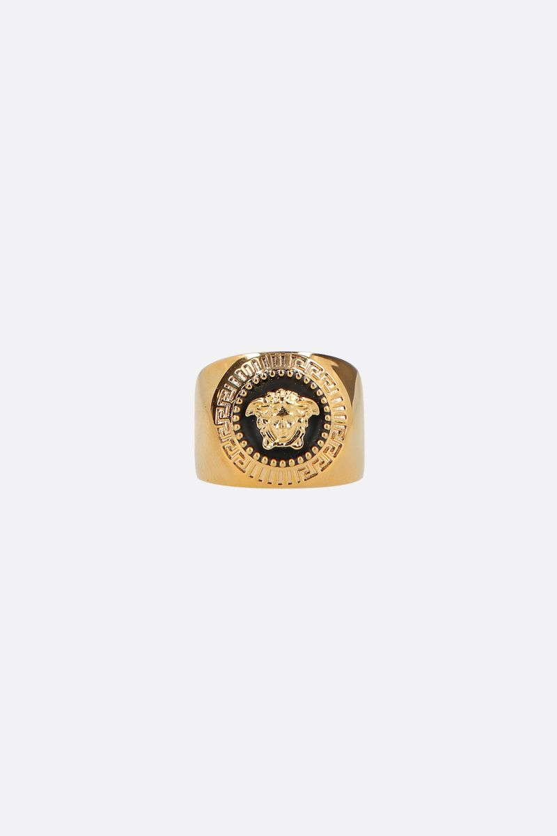 VERSACE: Medusa brass ring Color Black_1