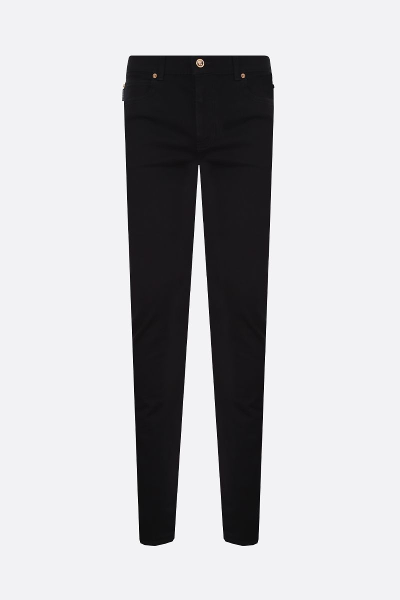 VERSACE: Medusa crest slim-fit jeans Color Black_1