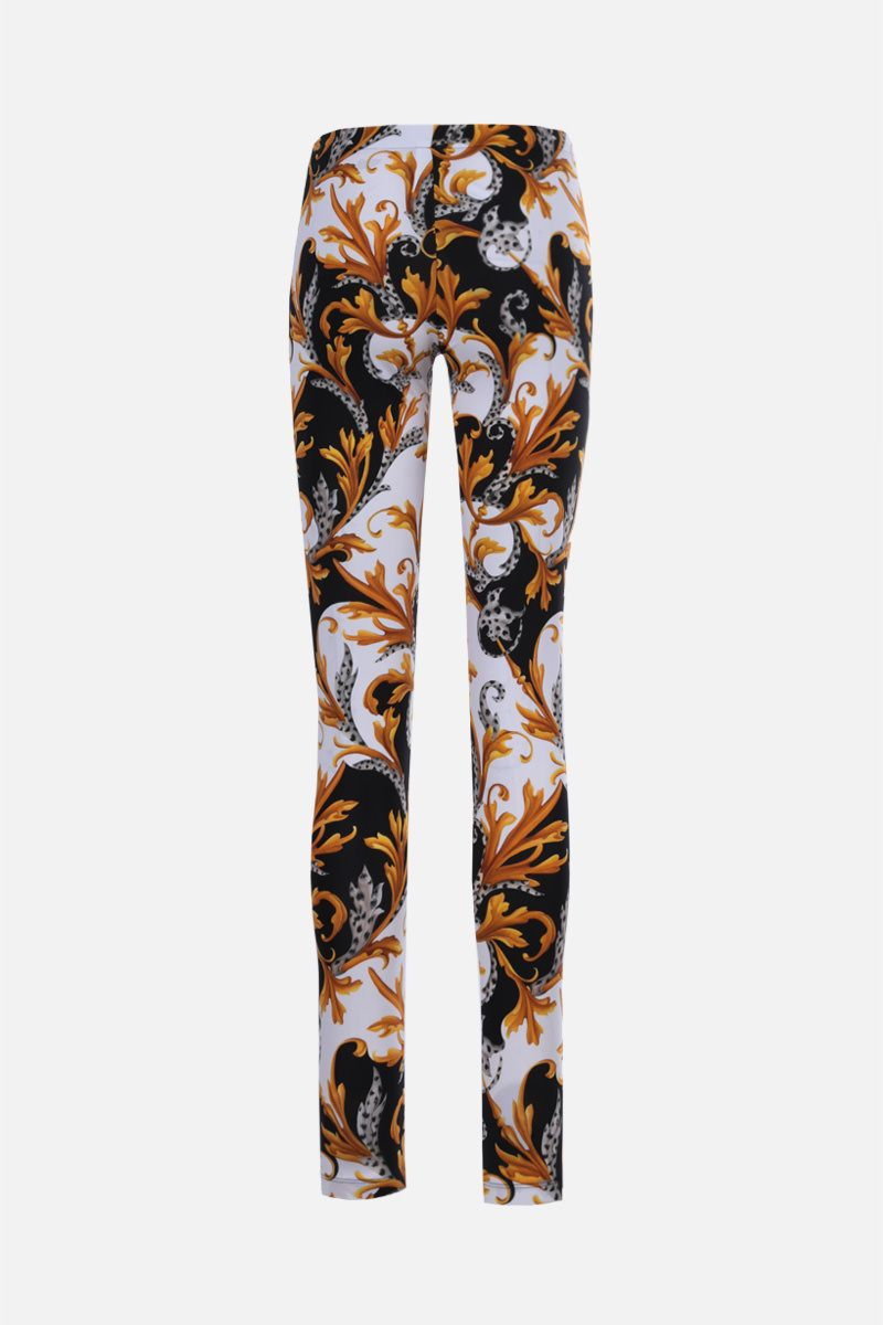 VERSACE: Barocco Acanthus print lycra leggings Color White_2