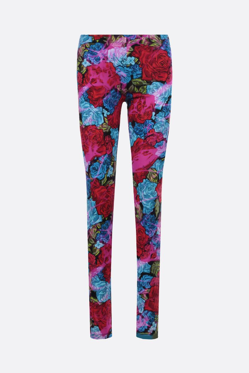 VERSACE: leggings in jersey stampa Tie-Dye Roses Colore Rosso_1