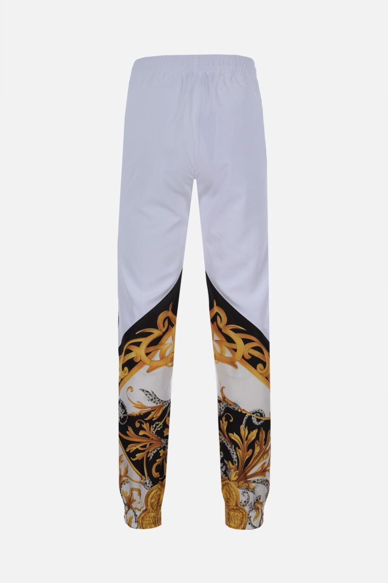 VERSACE: Barocco Acanthus print nylon joggers Color White_2