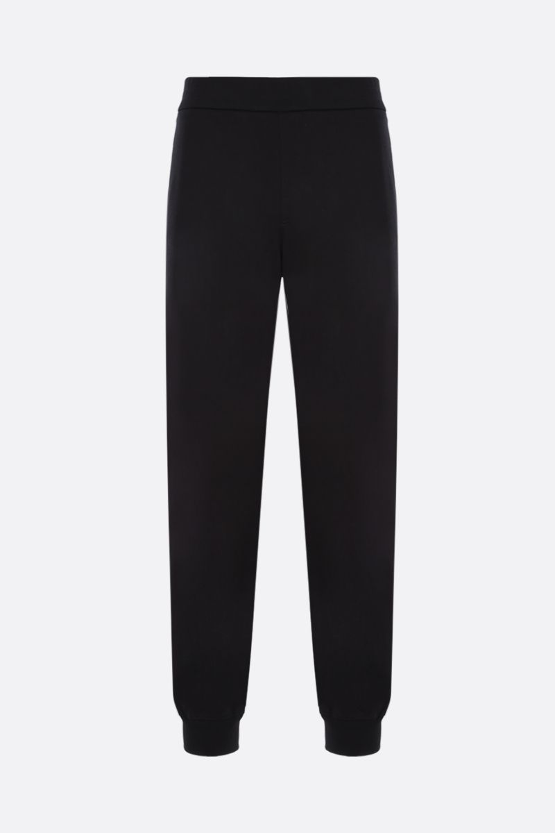VERSACE: Medusa crest embroidered cotton joggers Color Black_1