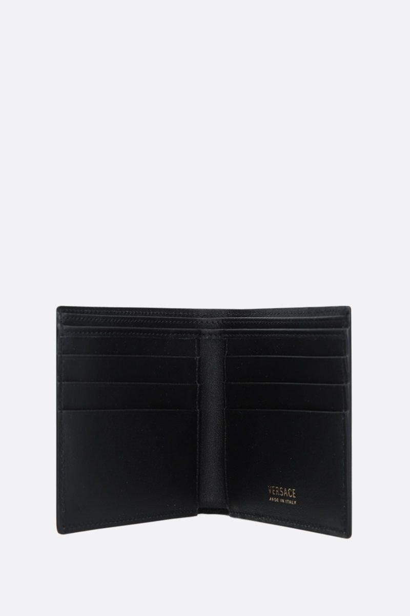 VERSACE: Barocco print smooth leather billfold wallet_2
