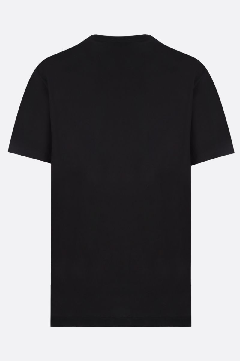 VERSACE: Medusa embroidered cotton t-shirt Color Black_2