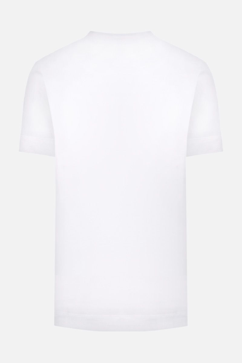 VERSACE: Medusa Tye-Dye print cotton t-shirt Color White_2