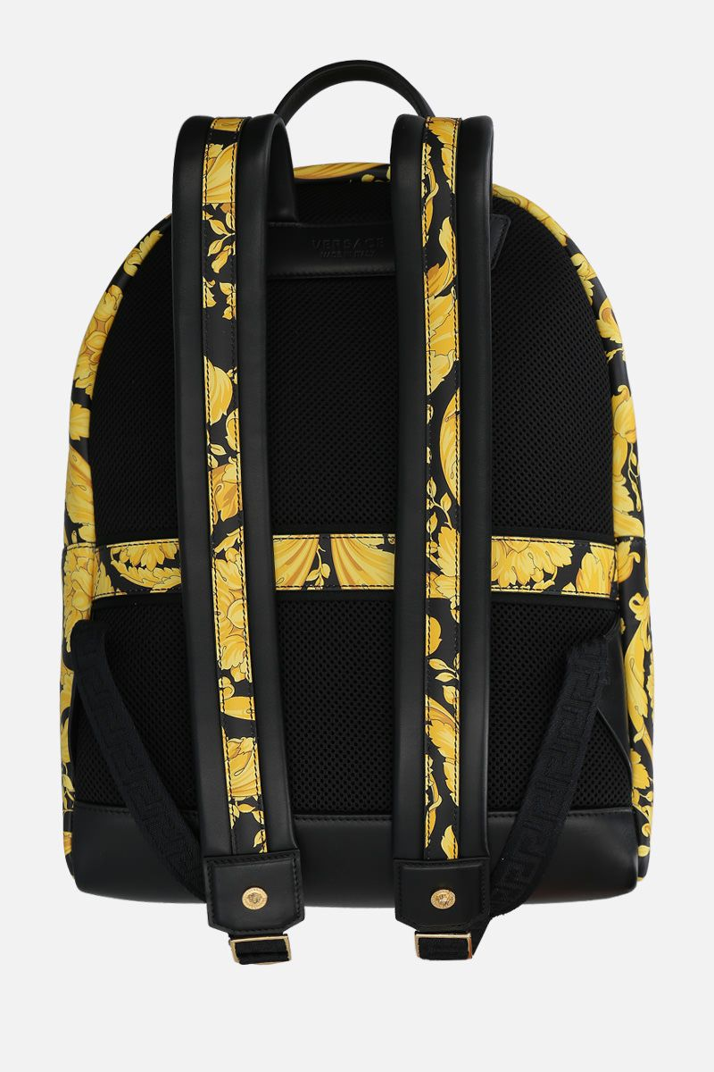 VERSACE: Barocco print smooth leather backpack Color Multicolor_4