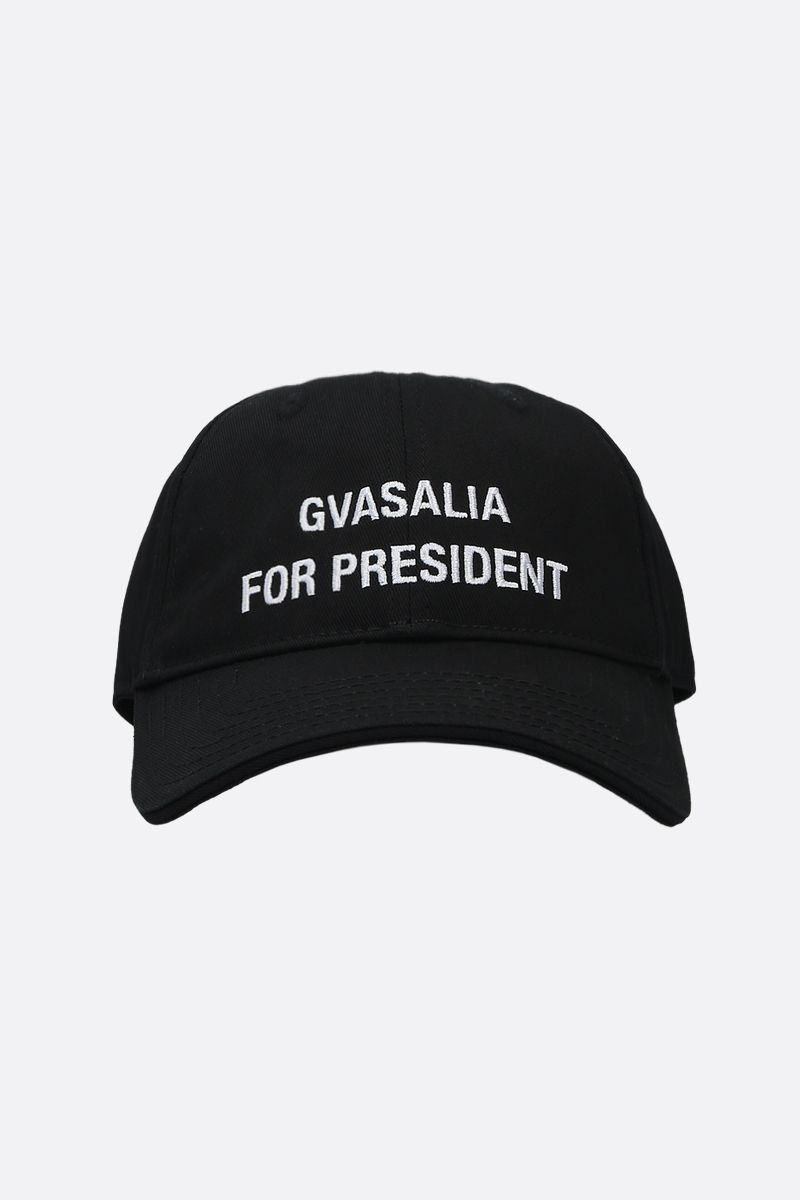 VETEMENTS: Gvasalia for President twill cap Color Black_1
