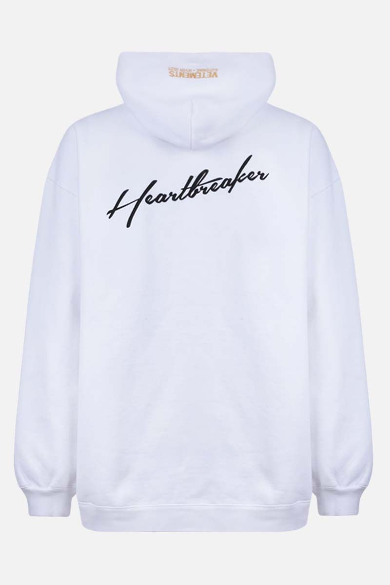 VETEMENTS: Heartbreaker Unicorn oversize cotton blend hoodie Color White_2
