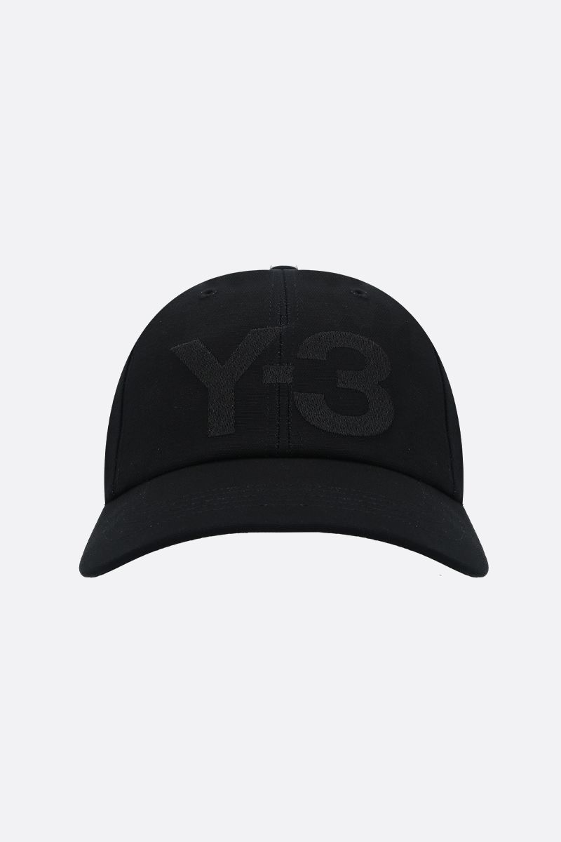 Y-3: Y-3 CL gabardine baseball cap Color Black_1