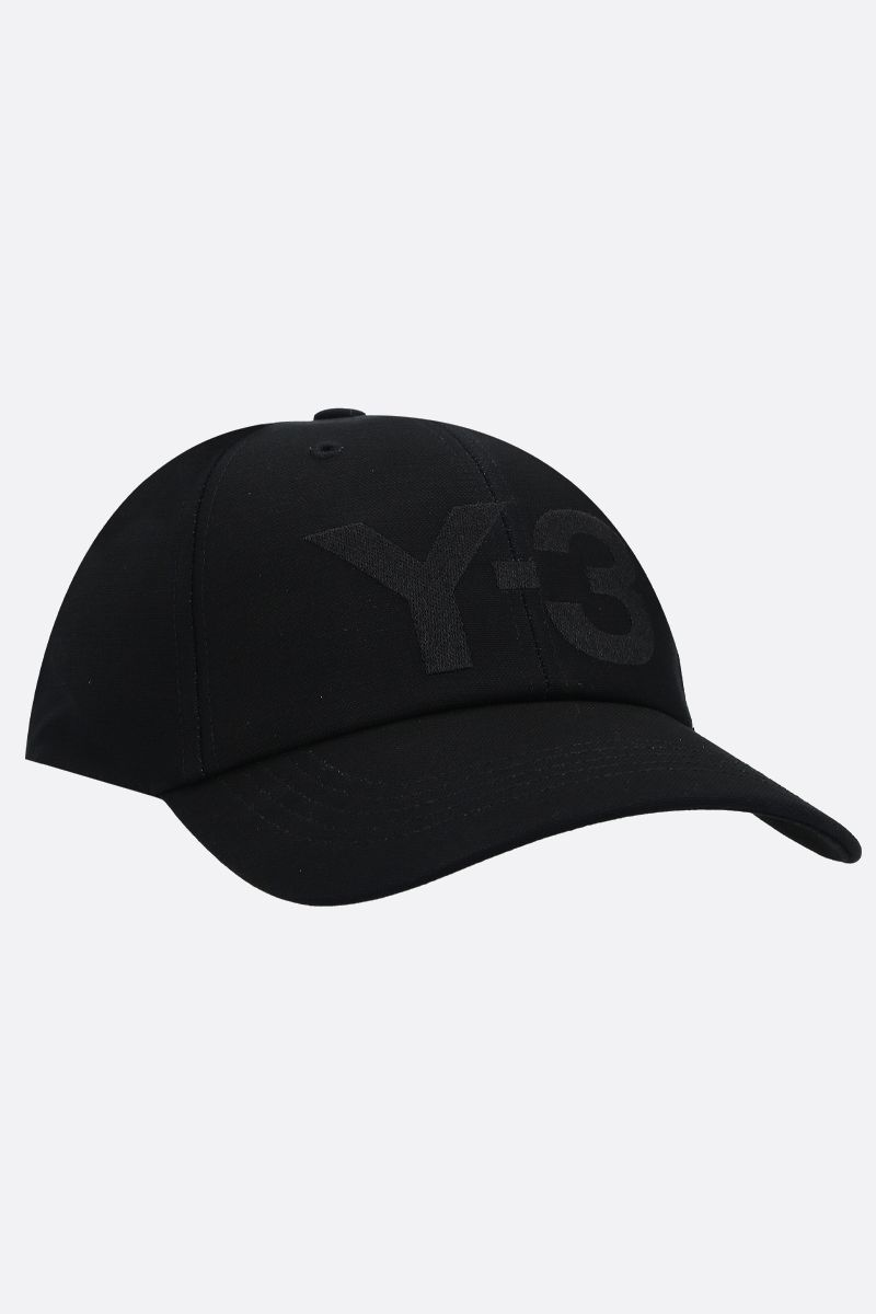 Y-3: Y-3 CL gabardine baseball cap Color Black_2